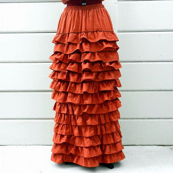 Victorian Gothic Steampunk Bustled Ruffled Pleated Gown Dress - 2 Pieces. Luxurious Dupioni Silk - Lined and Elasticized Waist