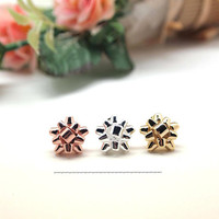 Gift Wrapping Bow Stud Earrings in gold / silver / pink gold