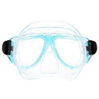 Light Blue Adult Swimming Goggles with Tampered Glass