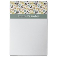 Classy Autumn Leaves Pattern Post-it® Notes