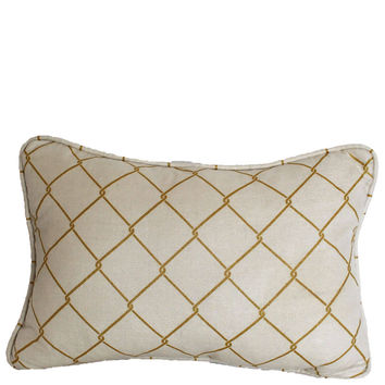 "Chainlink 12x18"" Printed Linen Pillow"