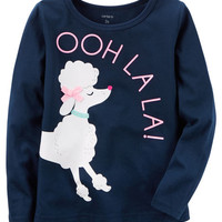 Long-Sleeve Poodle Graphic Tee