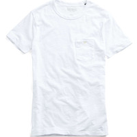 Classic Button Pocket T-Shirt in White