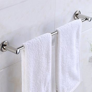 Stainless Steel Wall Mounted Towel Bar Holder Solid Bathroom Wall Mounted Type Accessories For Home Bathroom Decoration