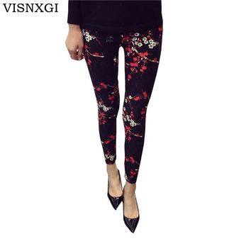 STYLEDOME Print Flower Leggings