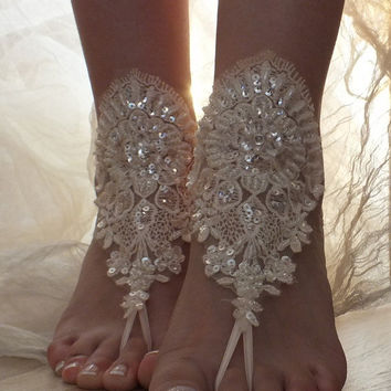 Blush wedding Barefoot Sandals, beach shoes, bridal sandals,  barefoot sandles, blush sandals, wedding shoes, summer wear, handmade