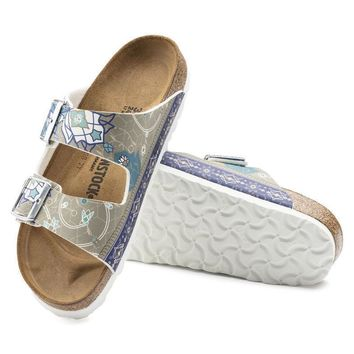 Sale Birkenstock Arizona Birko Flor Ancient Mosaic Taupe 1009802 Sandals