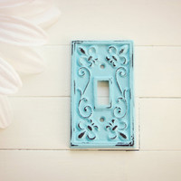 Light Switch Cover / Light Switch Plates / Single Light Switch Cover / Shabby Chic Decor / French Country Decor / Customize Color