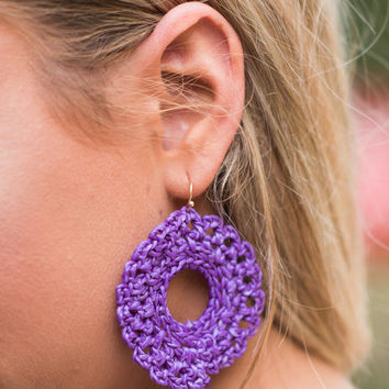 Santa Ana Earrings, Purple
