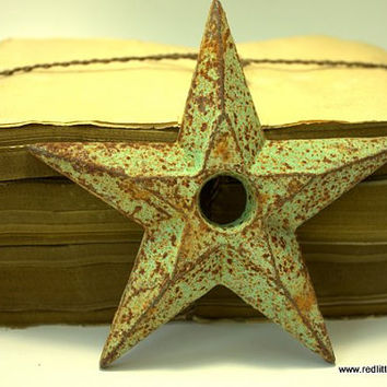Antique Cast Iron Rusted Patina Star, home decor, paper weight, desk accessories,  wall hanging, history home decoration