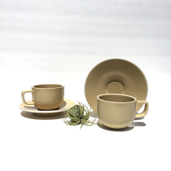 Massimo Vignelli Sasaki Colorstone in Wheat Cup And Saucer