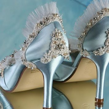 Jeweled Shoes Hand Embellished Encrusted With Crystals by Parisxox