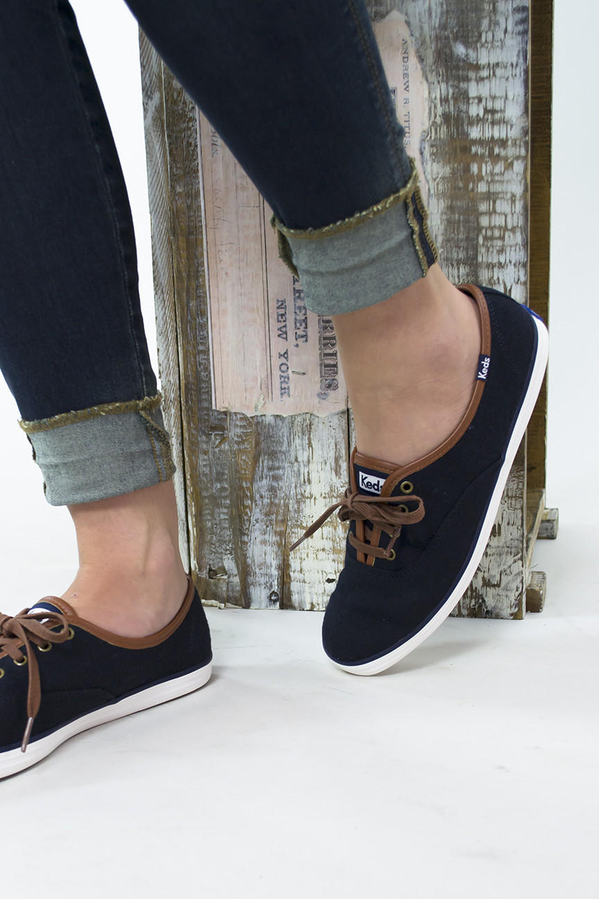 2810403073b Champion Wool Lace Up Keds from Siloe Boutique