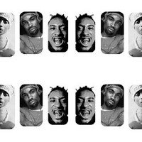 Dead Rapper Nail Wraps - Tupac Eazy E ODB Biggie Proof