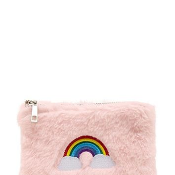 Rainbow Embroidered Coin Purse