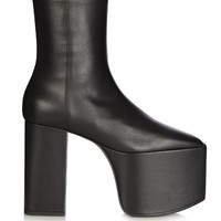 Platform leather ankle boots | Balenciaga | MATCHESFASHION.COM US