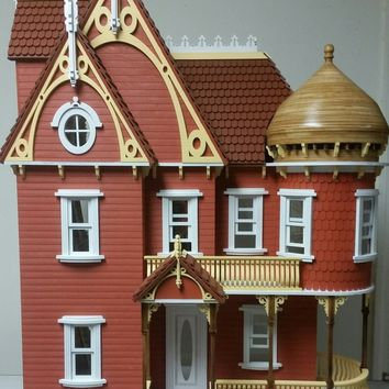 Hannah Victorian Wooden Dollhouse Mansion 1:12 Scale