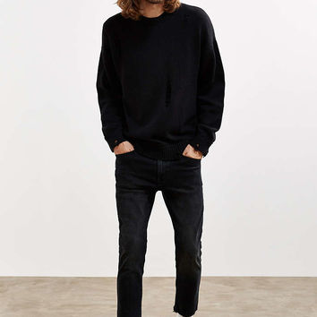 Rollas Black Tapered Slim Cutoff Jean - Urban Outfitters