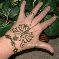 One BUTTERFLY Wedding Bracelet Slave Bracelet Ring Hand JEWELRY Bracelet Combo BUTTERFLY Jewelry Item #1378