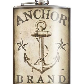 Anchor Brand Flask 8 oz. Stainless Steel