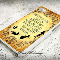 Peter Pan Quote Vintage - Print on hard plastic - iphone case - iphone 4 case - iphone 4s case - iphone 5 case - samsung case - iphone