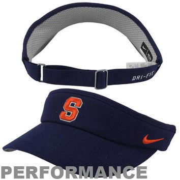 Nike Syracuse Orange Sideline Dri-FIT Adjustable Performance Visor - Navy Blue