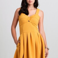 Betty Dress In Yellow By Dear Creatures