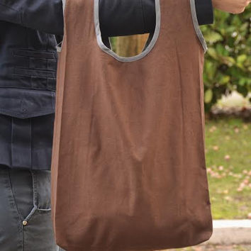 shopping bag, brown, cotton tote, shopper woman, minimal bag, foldable bag, purse, Valentine's gift, tasche, valentines, for her, gift