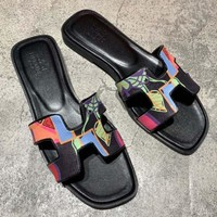 Hermes Fashion Slippers-1