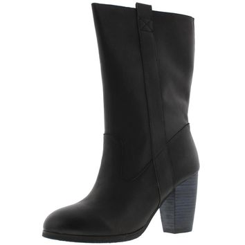 Antelope Womens Leather Mid Calf Snow Boots