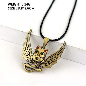 Golden color Fairy Tail Hubby Pendant Necklace Jewelry Accessories For Women Men Gift