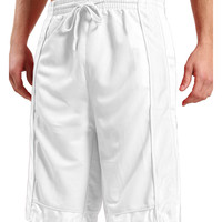 LE3NO Mens Basketball Sport Short Pants with Detail Panels