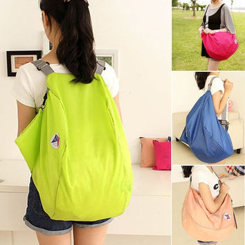 Folding Nylon Women Travel Bags Luggage Bags Backpacks Travel Shoulder Bag Pouch  7_S