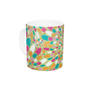 "Miranda Mol ""Flourishing Green"" Green Multicolor Ceramic Coffee Mug"