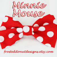 Minnie Mouse Disney Hair Bow! Character Essential
