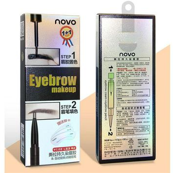 NOVO Tattoo Eyebrow Pen Double-headed Automatic Rotation Eyebrow Pencil Lasting Waterproof Not Dyed Hair To Send Eyebrows