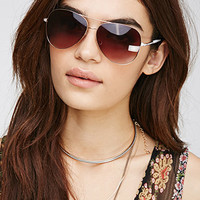 Lacquer-Trimmed Aviator Sunglasses