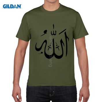 GILDAN pure cotton round collar T-shirt Allah Islam T Shirt Man's 100% Cotton Short Sleeve Crew Neck Tshirt Guy Costume