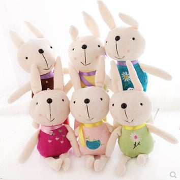 New pattern Plush toys The rabbit doll Small pendant The wedding gift Gift Rag doll On Sale Children's Toys Free shipping