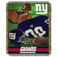 New York Giants NFL Woven Tapestry Throw (Vintage Series) (48x60)