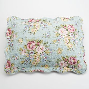 Home Classics Clair Country Floral Sham (Blue)