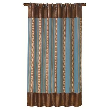 Cowgirl Kim Ruidoso Turquoise Aztec Shower Curtain
