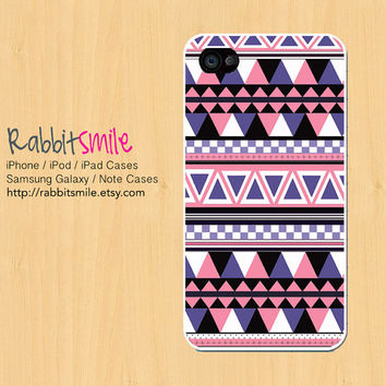 Violet Aztec Tribal iPhone 5 Case, iPhone 4 case, iPhone 5S Case Geometric iPhone 4s Cover, Triangle iphone 5c Case
