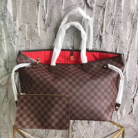 LV  two piece Fashion Women shopping leather hot Handbag Shoulder and bag purse wallet a set two-piece G