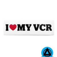 I Heart My VCR Bumper Sticker