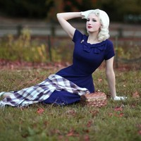 Nottingham Swing Bow Dress- Free Custom Sizing
