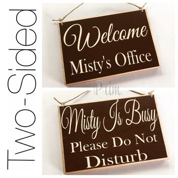 8x6 Custom Name Two Sided Welcome Please Do Not Disturb