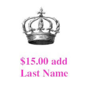 Add Your New Last Name to your robe or Off the Shoulder Shirt