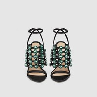 JEWELED SANDALS DETAILS