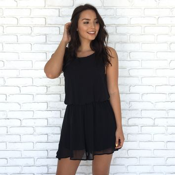 Rush Hour Romper in Black